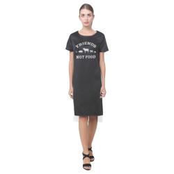 Friends Not Food (Go Vegan) Short Sleeves Casual Dress(Model D14)