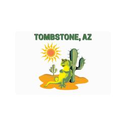 """Tombstone, Arizona Doormat 24""""x16"""""""