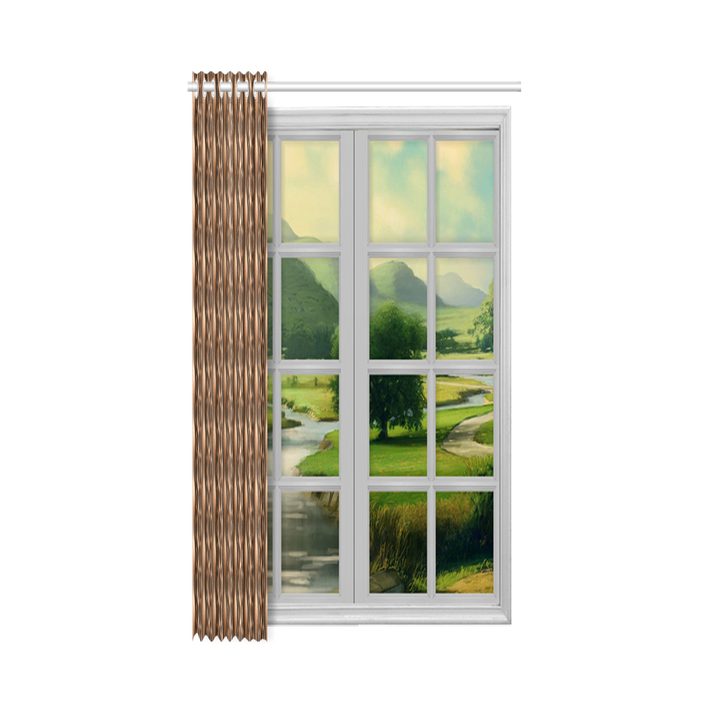 """brown leather abstract wave New Window Curtain 52"""" x 72""""(One Piece)"""