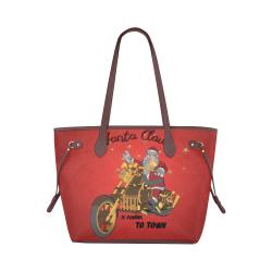 Santa Claus wish you a merry Christmas Clover Canvas Tote Bag (Model 1661)