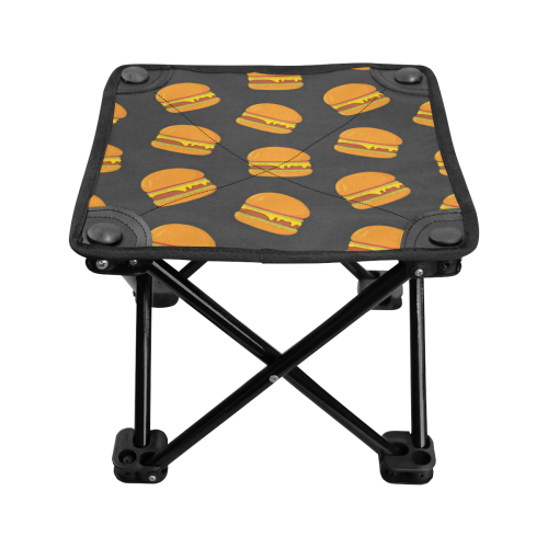 Cheeseburgers Folding Fishing Stool