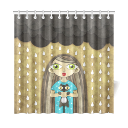 "We Love Rain Shower Curtain 72""x72"""