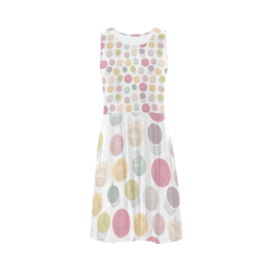 Colorful Cupcakes Sleeveless Ice Skater Dress (D19)