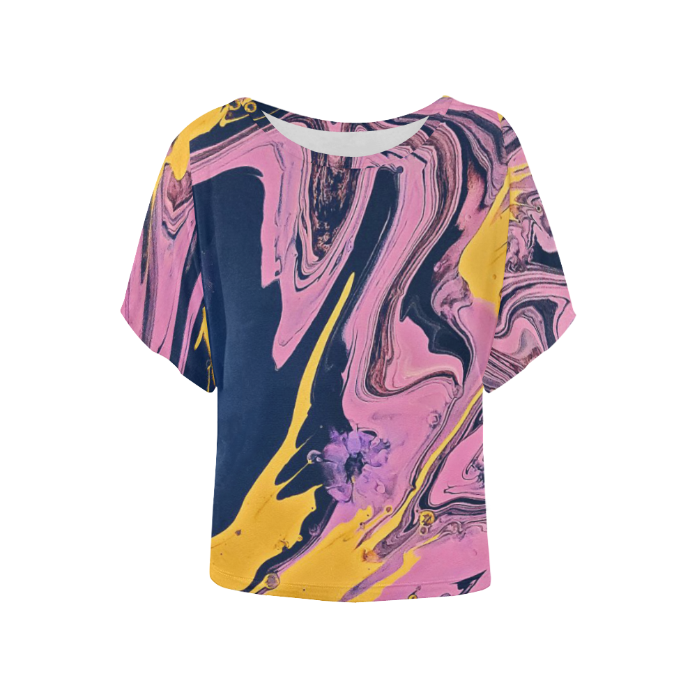 YBP Women's Batwing-Sleeved Blouse T shirt (Model T44)