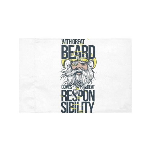 179 WITH GREAT BEARD COMES GREAT RESPONSIBILITY Motorcycle Flag (Twin Sides)