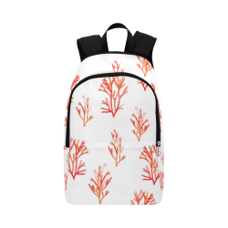 Watercolor Sealife Pattern Fabric Backpack for Adult (Model 1659)