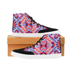 Modern Geometric Pattern Herdsman High Top Shoes for Women (Model 038)