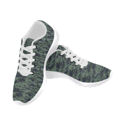 Jungle Tiger Stripe Green Camouflage Men's Running Shoes (Model 020)