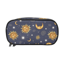 Vintage Celestial Pattern Pencil Pouch/Large (Model 1680)