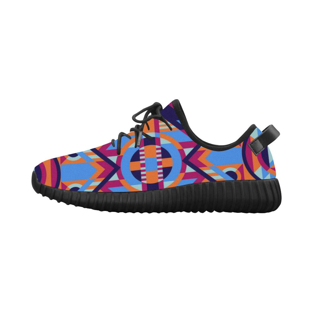 Modern Geometric Pattern Grus Women's Breathable Woven Running Shoes (Model 022)