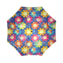 Flower of Power by Nico Bielow Foldable Umbrella (Model U01)