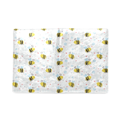 Cute Bee Pattern Custom NoteBook B5