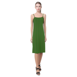 African Diagonal Green Alcestis Slip Dress (Model D05)
