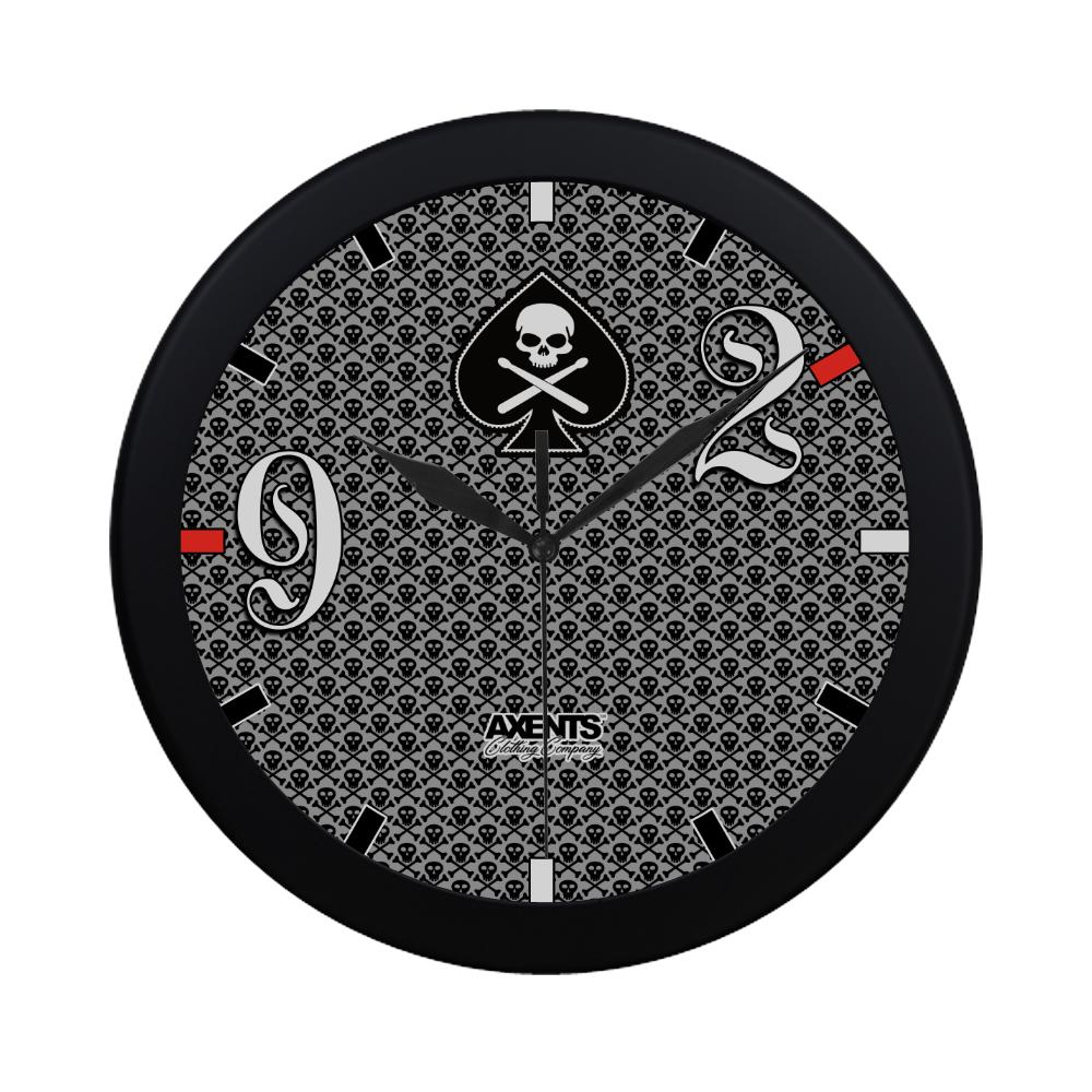 9-2 BLACK GIG CLOCK Circular Plastic Wall clock