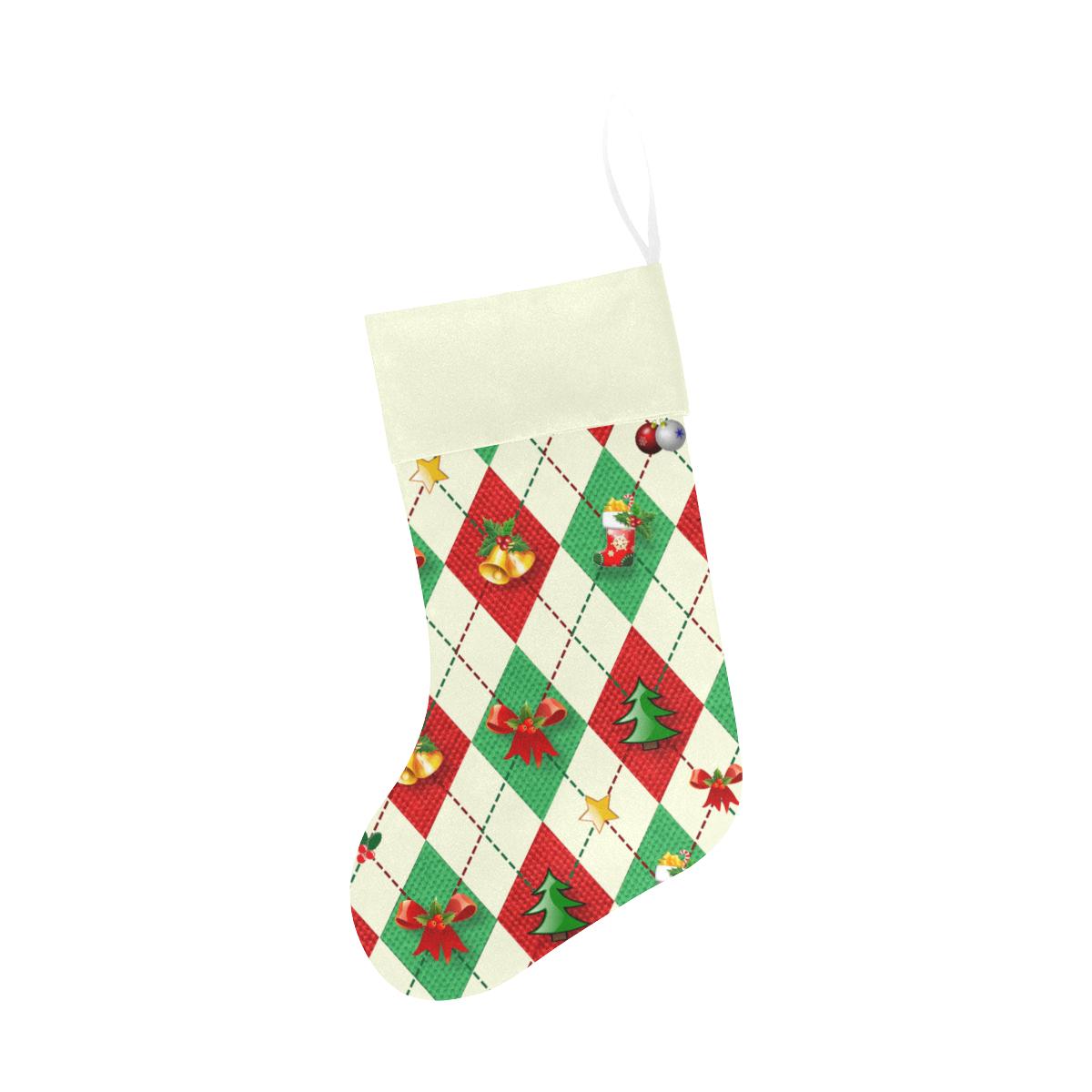 Christmas Argyle Pattern Christmas Stocking