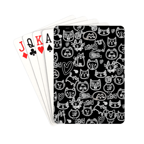 "Meow Cats Playing Cards 2.5""x3.5"""