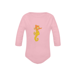 Sassy Seahorse Pink Baby Powder Organic Long Sleeve One Piece (Model T27)