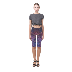 Cosmic Sugar Skulls Hestia Cropped Leggings (Model L03)
