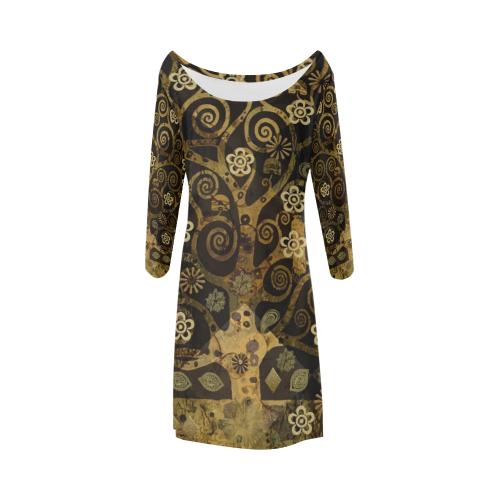 Klimt Tree Bateau A-Line Skirt (D21)