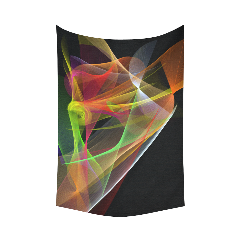 """Color Symphony 1 Cotton Linen Wall Tapestry 90""""x 60"""""""