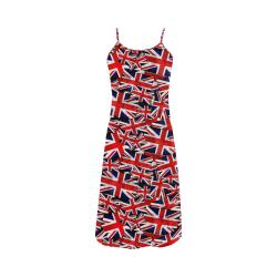 Union Jack British UK Flag Alcestis Slip Dress (Model D05)