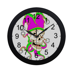 Jester Skull Circular Plastic Wall clock