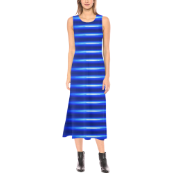 blue spring Phaedra Sleeveless Open Fork Long Dress (Model D08)