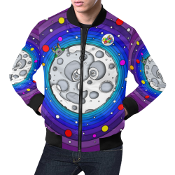 JUNGLEBIRDY - MOON JACKET All Over Print Bomber Jacket for Men (Model H19)