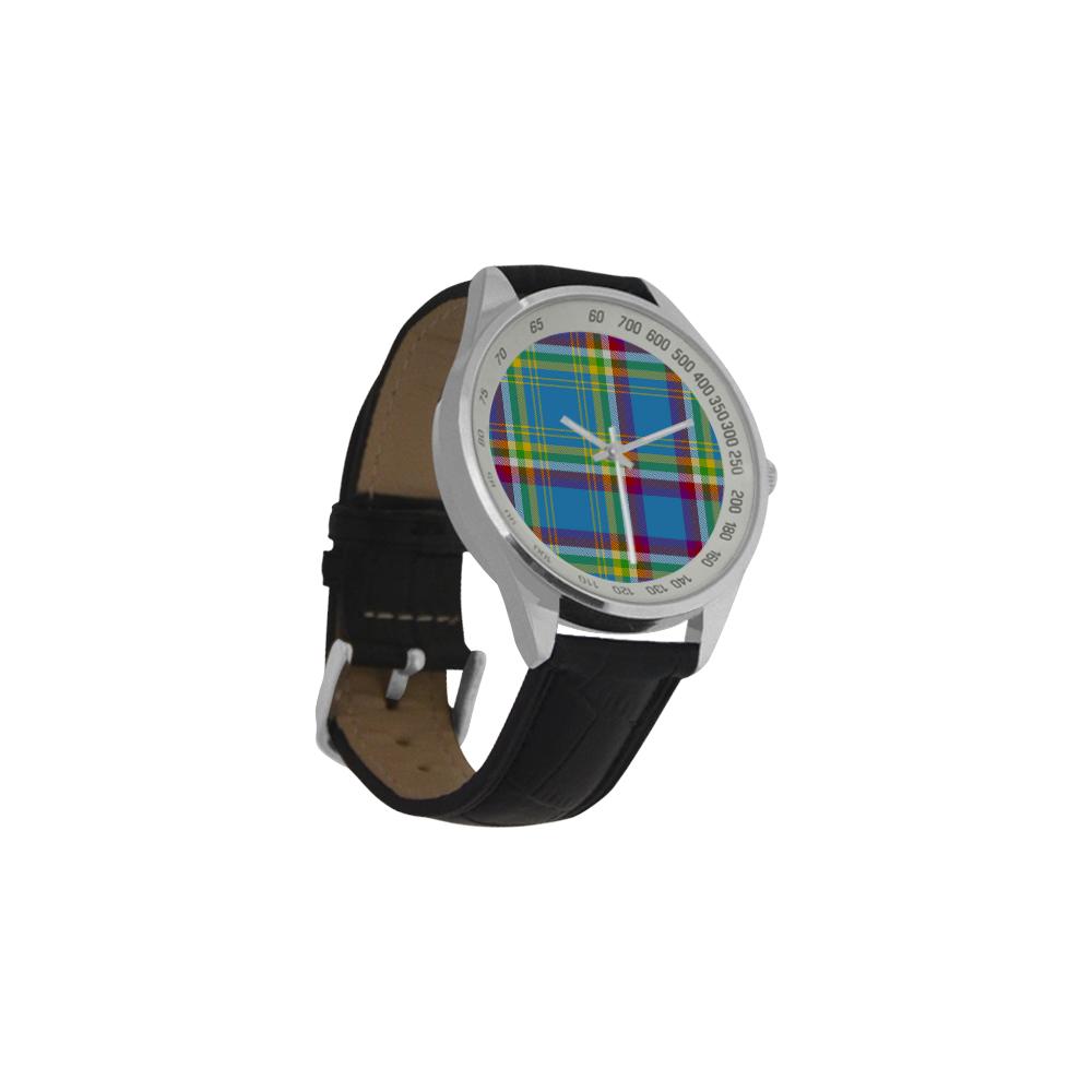 Yukon Tartan Men's Leather Strap Analog Watch(Model 209)