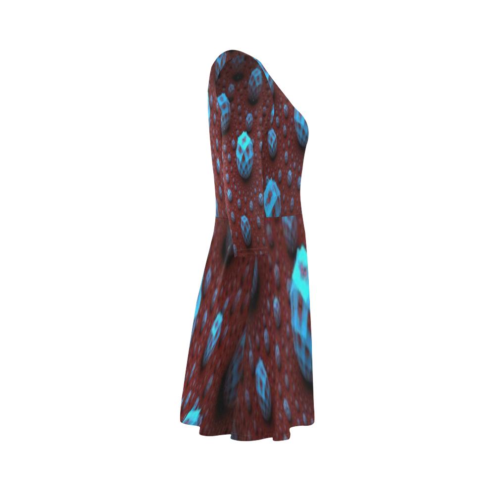 Fractal flash 3/4 Sleeve Sundress (D23)