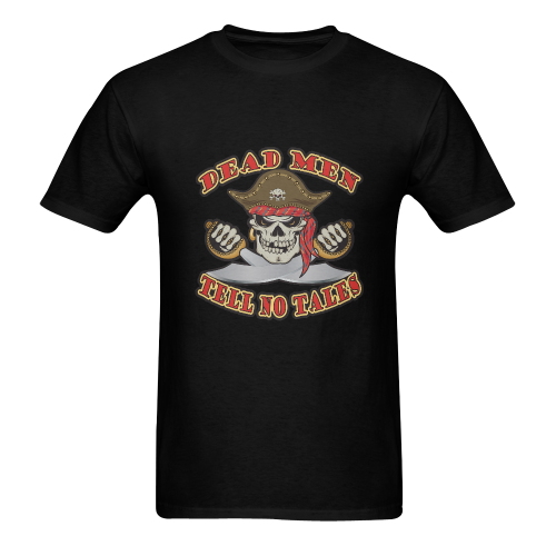 Dead Men Pirate Skull Men's T-Shirt in USA Size (Two Sides Printing)