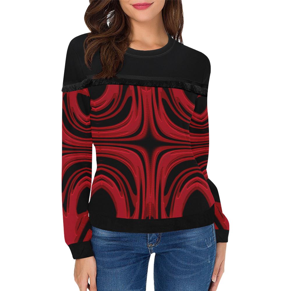 5000xart_5198x6259 8 Women's Fringe Detail Sweatshirt (Model H28)