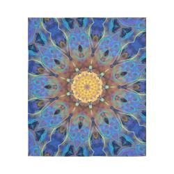 "Energy mandala Cotton Linen Wall Tapestry 51""x 60"""