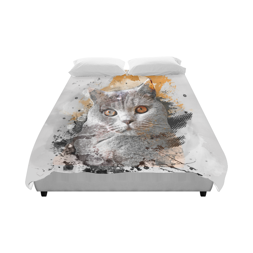 "cat kitty art #cat #kitty Duvet Cover 86""x70"" ( All-over-print)"