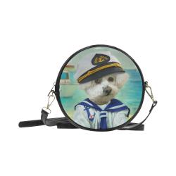 Little captain Round Sling Bag (Model 1647)