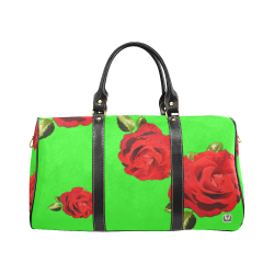 Fairlings Delight's Floral Luxury Collection- Red Rose Waterproof Travel Bag/Small 53086e19 New Waterproof Travel Bag/Small (Model 1639)