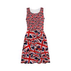 Union Jack British UK Flag Atalanta Sundress (Model D04)