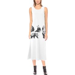 PANDA Dress Phaedra Sleeveless Open Fork Long Dress (Model D08)