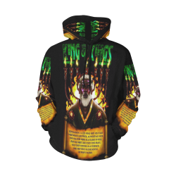 black Christ All Over Print Hoodie for Men (USA Size) (Model H13)