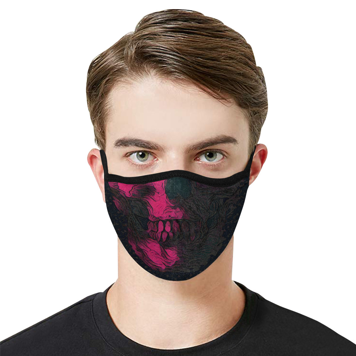 SKULL CAMOU PINK MASK Mouth Mask in One Piece (2 Filters Included) (Model M02) (Non-medical Products)