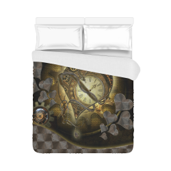 "Awesome steampunk heart Duvet Cover 86""x70"" ( All-over-print)"