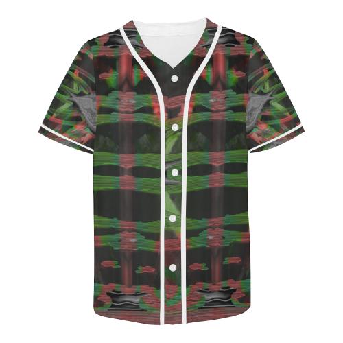 Green Deep Crew Unit All Over Print Baseball Jersey for Men (Model T50)