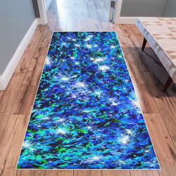 Sparkling Blue  by Jera Nour Area Rug 10'x3'3''