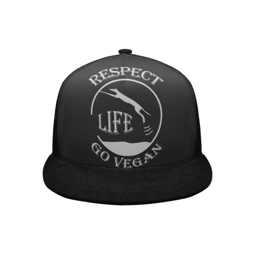 RESPECT LIFE GO VEGAN BASECAP II Trucker Hat H (Front Panel Customization)
