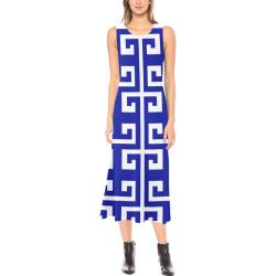 Classic Blue Phaedra Sleeveless Open Fork Long Dress (Model D08)