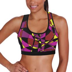 Multicolor Abstract Design S2020 Women's All Over Print Sports Bra (Model T52)