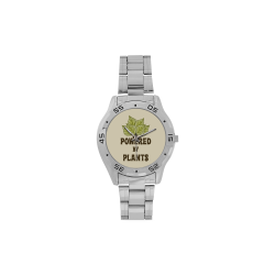 Powered by Plants (vegan) Men's Stainless Steel Analog Watch(Model 108)