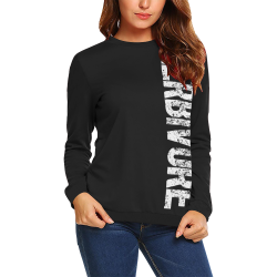 Herbivore (vegan) All Over Print Crewneck Sweatshirt for Women (Model H18)