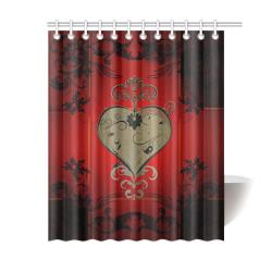 """Wonderful decorative heart Shower Curtain 60""""x72"""""""