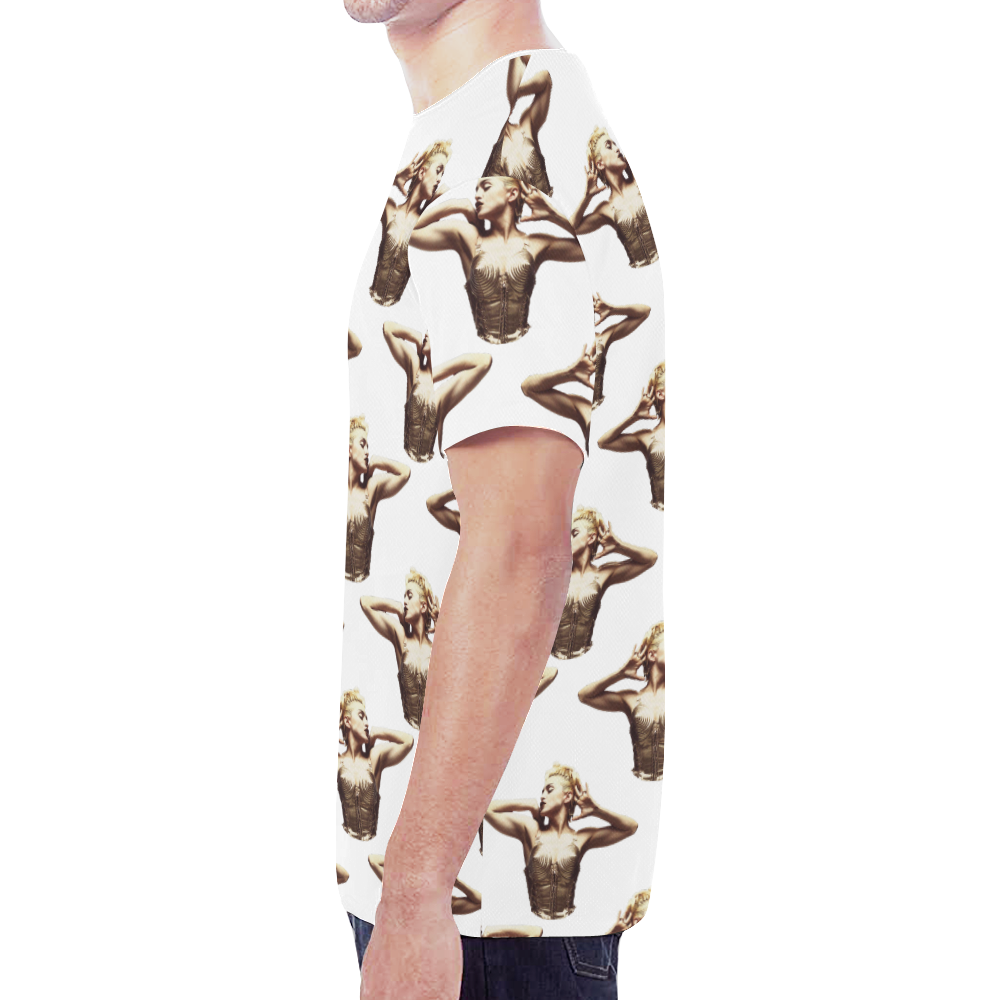 madonna pattern1 New All Over Print T-shirt for Men (Model T45)